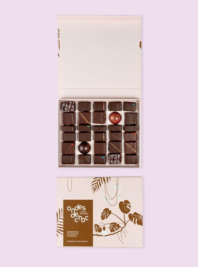 coffret 30 chocolats, ondes de choc, Craponne